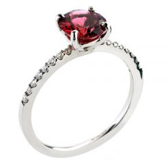 18ct diamond and pink tourmaline ring