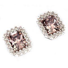 18ct Morganite stud earrings