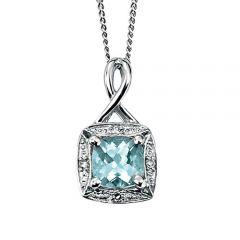 9ct aquamarine necklace