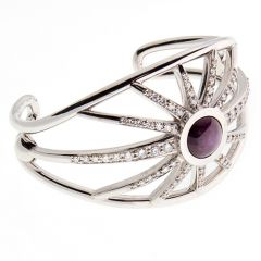 9ct diamond and ruby star cuff