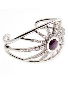 9ct diamond and ruby star cuff