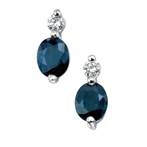 stunning sapphire and diamond earrings