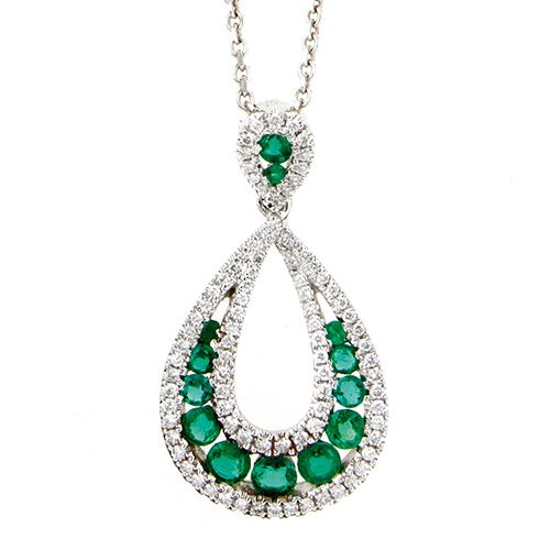 Stunning Emerald and Diamond Necklace