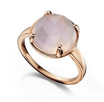 Rose gold and rose quartz simple and elegant ring