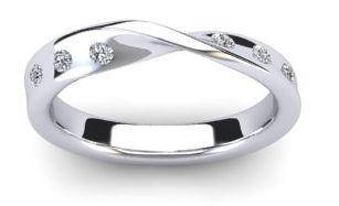 white gold twisted wedding ring