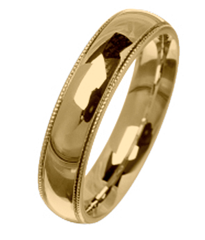 2.5mm light 18ct yellow gold wedding rings