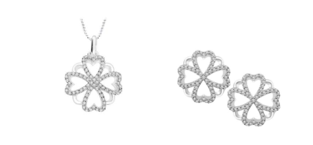 These luxury fine diamond earrings, 0.37cts, in 18ct white gold celebrate the heart design and would grace the most stylish dress