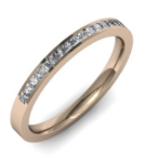 rose gold and diamond wedding ring