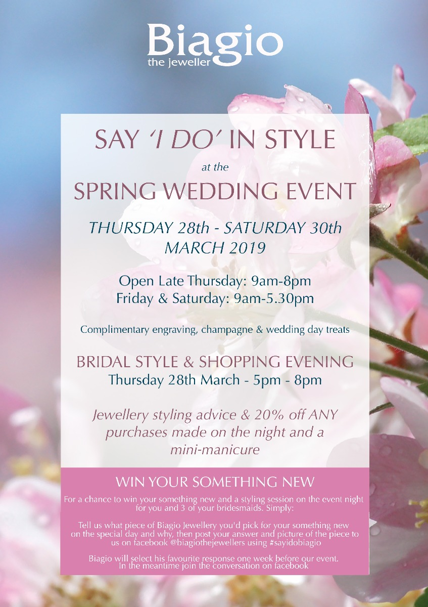 Biagio the Jewellers Spring Wedding Event 2019