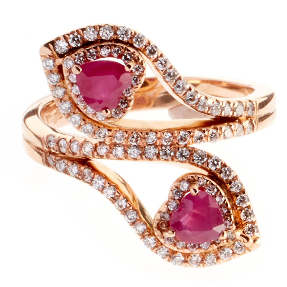 ruby hearts ring