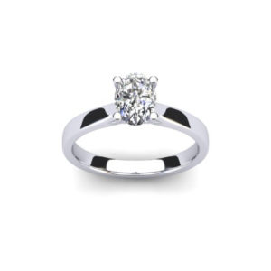 0.5ct Oval Diamond Solitaire