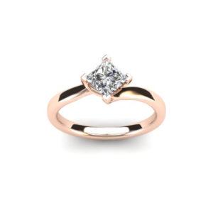 0.25ct Princess Cut Diamond Solitaire