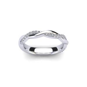 18ct White Gold & Diamond Wedding Band