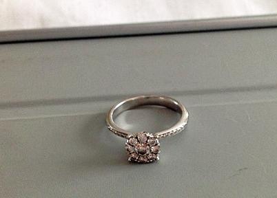 engagement ring diamond cluster
