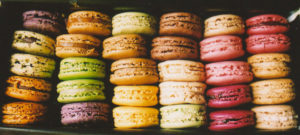 pastel macarons in the this season's palette of bridal jewellery