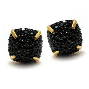 Black spinel earring studs are dainty and elegant and we're sure Mary Wollstonecraft would have loved them