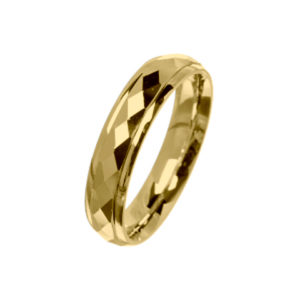 18ct Rose Gold & Yellow Gold Sectional Pattern Wedding Bands