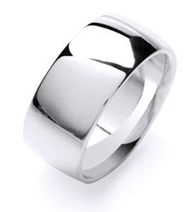 A lovely 6mm silver wedding ring.