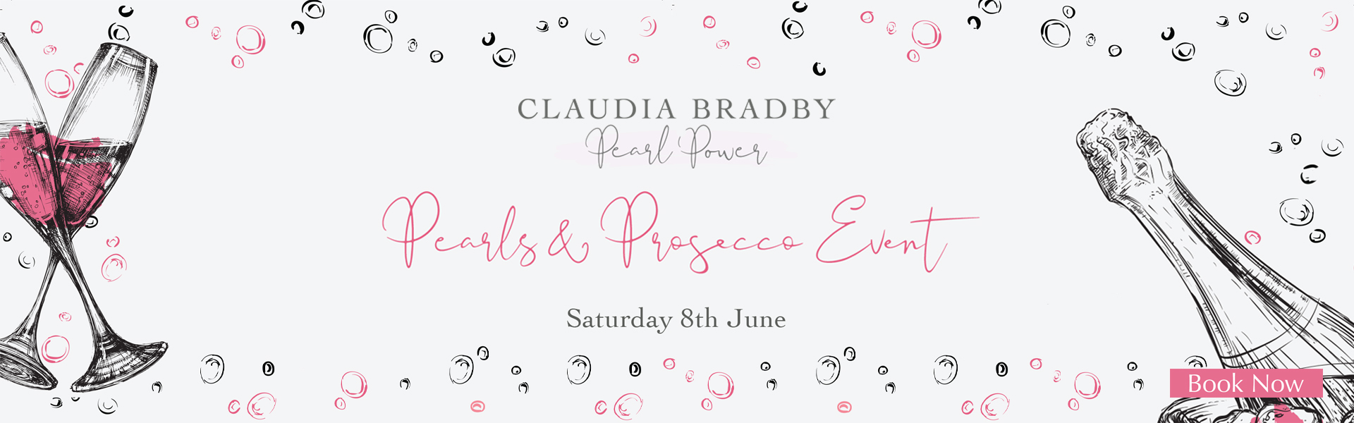 Join us for Pearls & Prosecco with Claudia Bradby